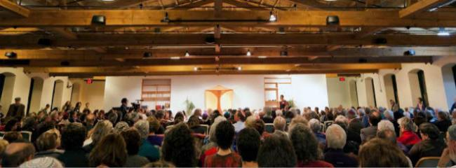 Sanctuary at Congregation Mishkan Shalom