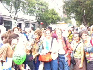 Rabbi Yael Levy and Mishkaners at People's Climate March