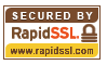 RapidSSL Site Seal shows that this page is protected by encryption